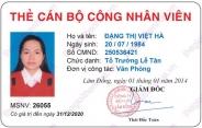Mẫu thẻ nhân viên 03